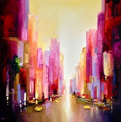New York II by Anna Gammans - Original Painting on Stretched Canvas sized 32x32 inches. Available from Whitewall Galleries